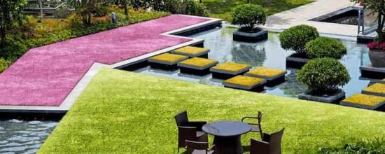 Jardín artificial: ¡El césped de colores!