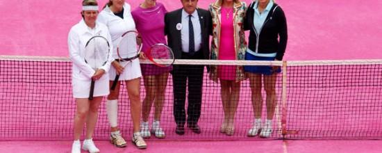 Césped artificial de colores: el rosa es perfecto para los campos de tenis