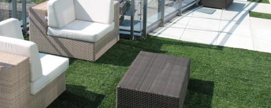 Césped artificial: terrazas que inspiran